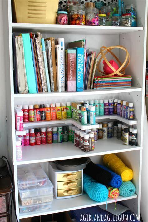 Craft Room Organizer! (spicy Shelf!)  A Girl And A Glue Gun