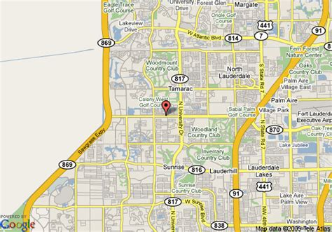 map  comfort suites sawgrass fort lauderdale