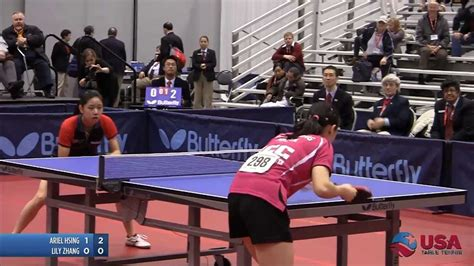 usa table tennis ratings women 39 s singles final lily zhang vs ariel hsing 2011
