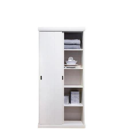 largeur porte chambre armoire 2 portes coulissantes pin blanc gerolt achat