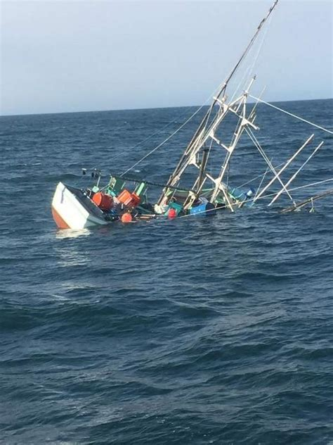 Sinking Big Boats by Cape D Coast Guard Rescues Crew From Sinking Fishing Boat