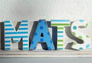 Buchstaben Deko Kinderzimmer : mats kinderzimmer holz buchstaben 4 holzbuchstaben maritim deko junge shabbychic kinderzimmer ~ Orissabook.com Haus und Dekorationen