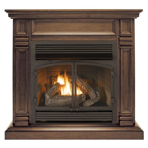 efficient gas fireplace inserts ventless fireplace system dual fuel technology chocolate