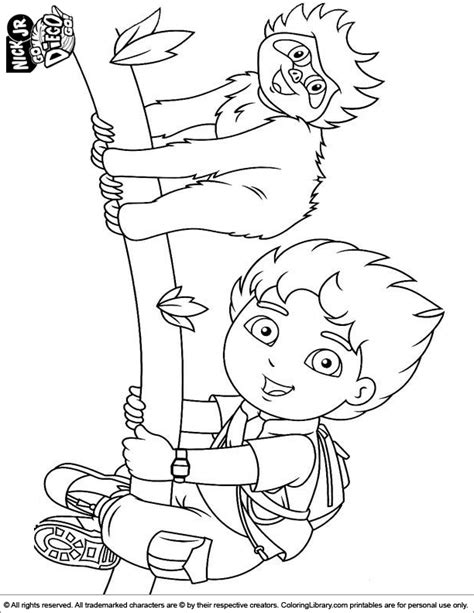 Kleurplaat Klimmen by Go Diego Go Coloring Page Tree Climbing
