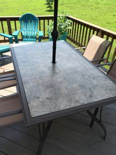 made this table top to replace the broken glass one my