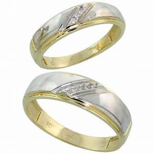wedding rings set for him and her gold 14k size 55 fresh With wedding rings size 5 5