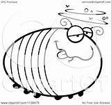 Grub Drunk Cartoon Coloring Clipart Outlined Chubby Thoman Cory Vector Template sketch template