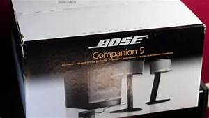 Bose Companion U00ae 5 Multimedia Speaker System Unboxing