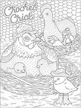 Coloring Dover Adult Calming Publications Crochet Books Welcome Colouring Doverpublications sketch template