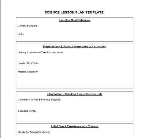 middle school lesson plan template middle school science lesson plan template beautiful template design ideas