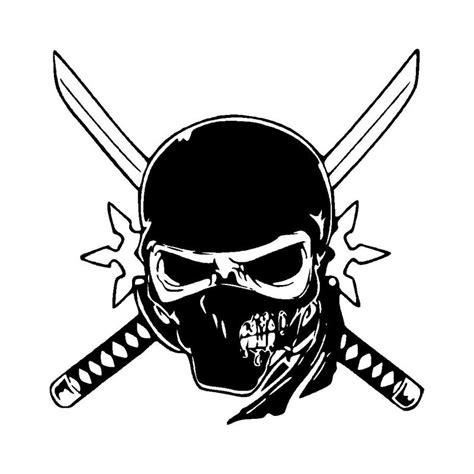 Unique Ninja Skull Car Stickers Personalized