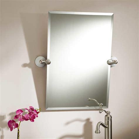 Tilting Bathroom Mirror Polished Nickel by Max Collection Rectangular Tilting Mirror Bathroom