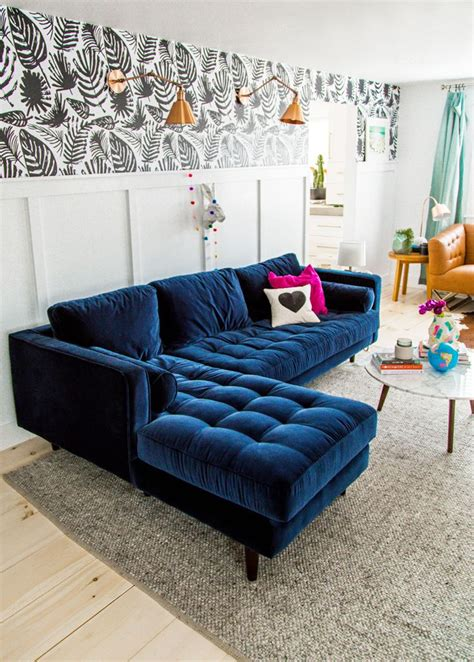 Living Room Design Blue Sofa by Best Blue Velvet Sofas Roger Chris Intended For Navy