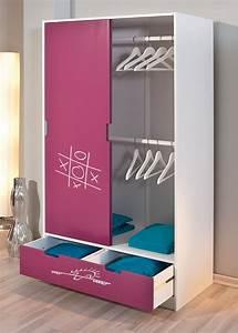 Kleiderschrank Für Mädchen : kinderkleiderschrank mit schiebet ren f r m dchen mina ~ Michelbontemps.com Haus und Dekorationen