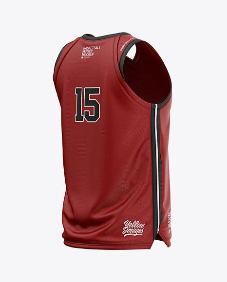Dear visitor, you are browsing our website as guest. Mens V-Neck Basketball Jersey Mockup Back Half Side View ...