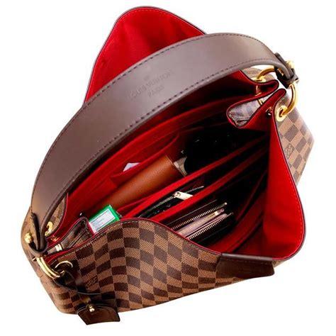 graceful mm lv purse organizer insert mm felt cherry red shaperlinerprotector