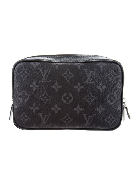 louis vuitton  monogram eclipse toilet pouch pm bags