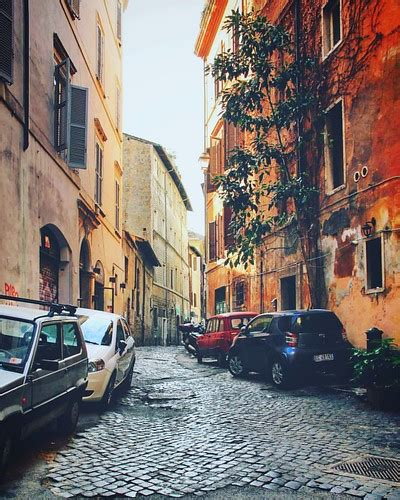 Cobbled Streets Of Rome An Old Small Street In Rome