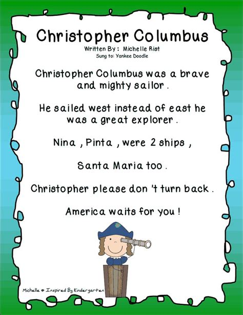 Columbus Song.pdf   Activities & Lesson Plans   Pinterest ...