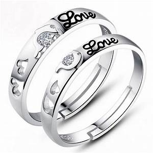2015 wholesale adjustable 925 silver engagement ring With mens adjustable wedding ring