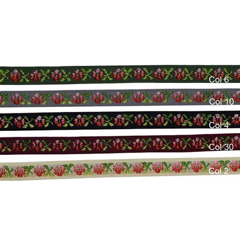 floral jacquard ribbon trim