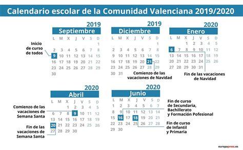 calendario escolar en comunidad valenciana navidad semana