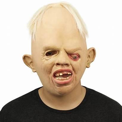 Ugly Scary Mask Halloween Creepy Rubber