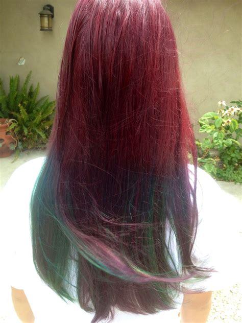 Ombré Hair Manic Panic On Natural Light Brown Hair