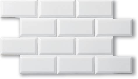 contour beveled matte white tile4you