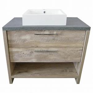 meuble lavabo countryside a 2 tiroirs 36quot couleur bois With meuble lavabo bois
