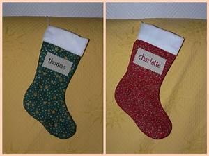 Chaussette De Noel Personnalisée : chaussettes de no l blog du site les croix de violette ~ Melissatoandfro.com Idées de Décoration
