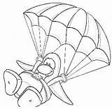 Parachute Template sketch template