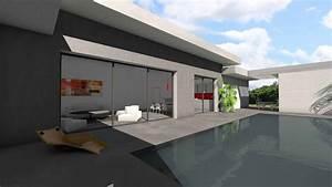 Maison Moderne Toit Plat : maison toit plat piscine interieure ~ Nature-et-papiers.com Idées de Décoration