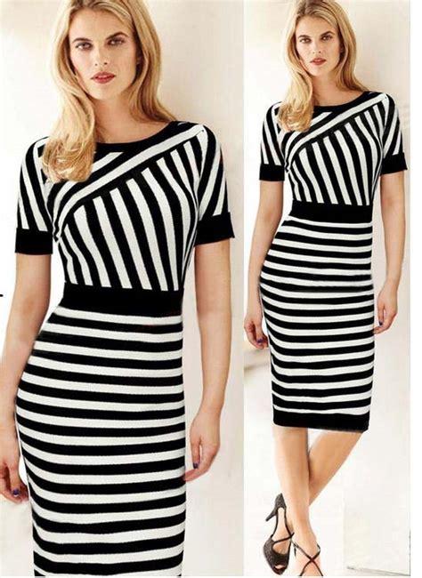 dress hitam putih cantik import  jual model