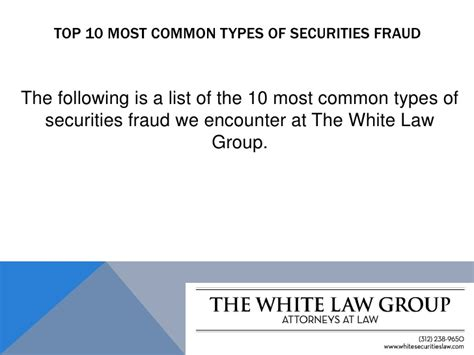 Top 10 Most Common Types Of Securities Fraud