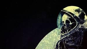 astronaut, Space, Skull, Death, Space art, Artwork, Helmet ...