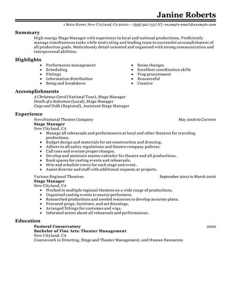 Supervisor Resume Template by Curriculum Vitae For Supervisor Position