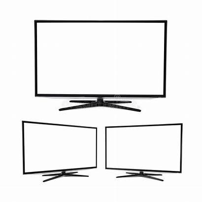 Tv Screen Blank Flat Modern Isolated Background