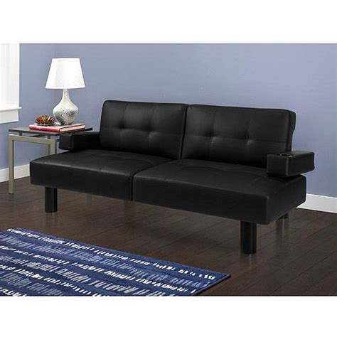 Mainstays Sofa Sleeper Black Faux Leather by Get The Mainstays Connectrix Black Faux Leather Futon At