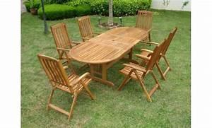 Table De Jardin Bois Pas Cher : salon de jardin pas cher en bois ekipia ~ Teatrodelosmanantiales.com Idées de Décoration