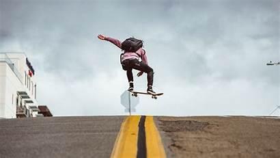 Skateboard 4k Jump Trick Road Skate Skateboarding