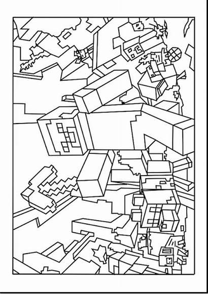 Minecraft Coloring Pages Herobrine Printable Number Getcolorings