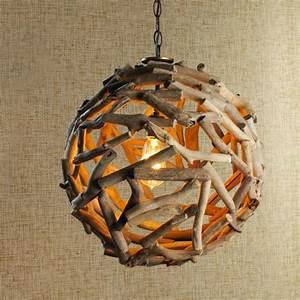 Suspension Bois Flotté : comment faire une lampe en bois flott ~ Teatrodelosmanantiales.com Idées de Décoration