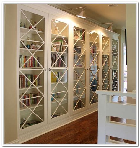 Large Bookshelf With Doors by White Bookcase With Glass Door For Elgant Interior With