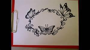 Schöne Muster Zum Selber Malen : einen schmetterling zeichnen sch ne verzierungen muster f r eine gl ckwunschkarte youtube ~ Orissabook.com Haus und Dekorationen