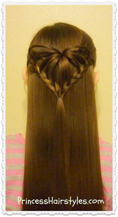 Hairstyle 3d Heart Hairstyles Valentine Half Princess