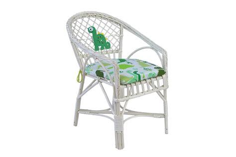 Papele.pl - Wiklinowy fotelik dla dzieci z poduszką DINOZAUR
