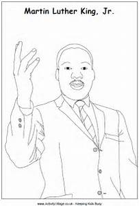 Martin Luther King Colouring Page