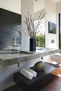 quelle couleur salle de bain choisir 52 astuces en photos With salle de bain design avec lavabo en marbre