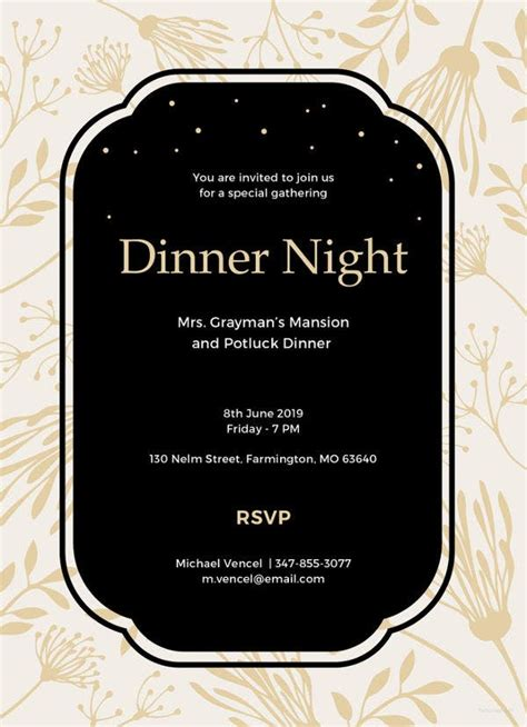 13+ Team Dinner InvitationsVector EPS Ai